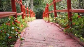 Puente de los jardines de la magnolia Imagen de archivo libre de regalías