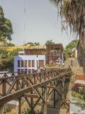 Puente de Los Suspiros Barranco Dsitrict in Lima stockfotografie