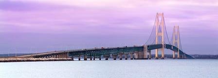 Puente de Mackinaw Foto de archivo libre de regalías