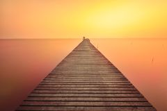 Puente de madera Fotografía de archivo