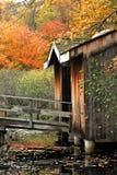 Puente de madera Fotos de archivo libres de regalías