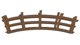 Puente de madera ilustración del vector