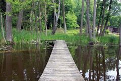 Puente de madera Fotografía de archivo libre de regalías