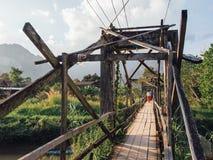 Puente de madera Foto de archivo libre de regalías