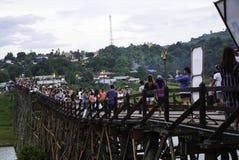 Puente de madera de lunes Fotos de archivo