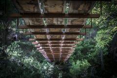 Puente de madera en Sedona Arizona Fotos de archivo