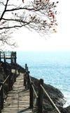 Puente de madera KOH-chang Tailandia Foto de archivo