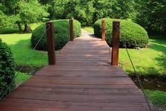 Puente de madera viejo Fotografía de archivo