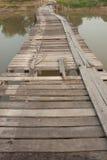 Puente de madera viejo Foto de archivo