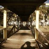 Puente de madera viejo Imágenes de archivo libres de regalías