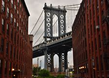 Puente de Manhattan de DUMBO Imágenes de archivo libres de regalías