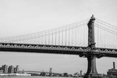 Puente de Manhattan en monocromo Imagen de archivo