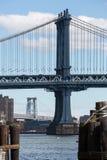 Puente de Manhattan en Nueva York Imágenes de archivo libres de regalías