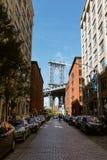 Puente de Manhattan visto de Dumbo, NYC Fotografía de archivo libre de regalías