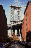 Puente de Manhattan visto de Dumbo, NYC Imagen de archivo libre de regalías