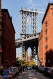 Puente de Manhattan visto de Dumbo, NYC Imágenes de archivo libres de regalías