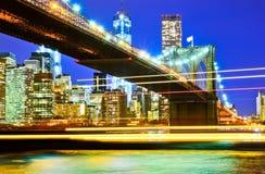 Puente de Manhattan y de Brooklyn imagenes de archivo