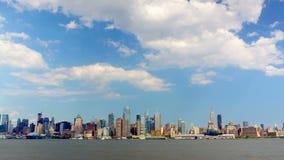 Puente de Manhattan y de Brooklyn almacen de metraje de vídeo