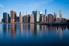 Puente de Manhattan y de Brooklyn Imágenes de archivo libres de regalías