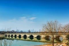 Puente de Marco Polo wanping en Pekín Imagen de archivo