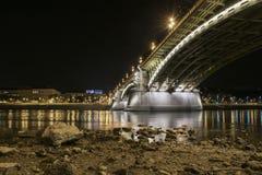 Puente de Margaret, Budapest, Hungría Foto de archivo libre de regalías