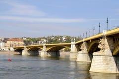 Puente de Margarit en Budapest Imagen de archivo libre de regalías