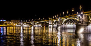 Puente de Margit en Budapest Foto de archivo libre de regalías