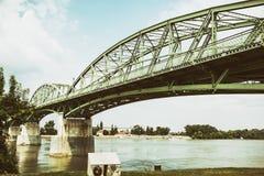 Puente de Maria Valeria de Esztergom, Hungría a Sturovo, Slovaki imagen de archivo libre de regalías