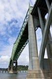 Puente de McCullough, curva del norte, el condado de Coos, Oregon foto de archivo libre de regalías