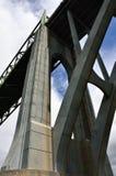 Puente de McCullough, curva del norte, el condado de Coos, Oregon imágenes de archivo libres de regalías