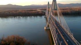 Puente de Megyeri en Budapest metrajes