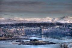 Puente de Menai Imagenes de archivo