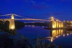 Puente de Menai Imágenes de archivo libres de regalías