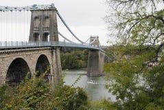 Puente de Menai Imagen de archivo libre de regalías
