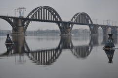 Puente de Mifely-Kherson Foto de archivo libre de regalías