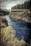 Puente de Miles Canyon con texturas imagen de archivo