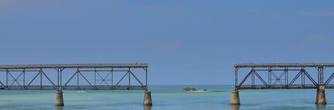Puente de 7 millas, llaves de la Florida Fotos de archivo