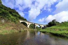 Puente de Miyamori en Tono foto de archivo libre de regalías