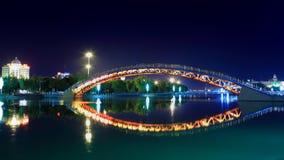 Puente de Miyun en la noche Pekín China Foto de archivo libre de regalías