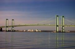 Puente de monumento de Delaware Imagen de archivo libre de regalías