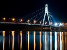Puente de Moscú en Kiev Imágenes de archivo libres de regalías