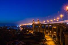 Puente de Nanjing el río Yangzi Imagen de archivo libre de regalías