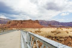 Puente de Navajo, barranco de mármol Hwy 89 Foto de archivo