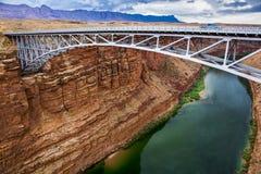 Puente de Navajo en el río Colorado Fotos de archivo
