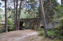 Puente de Navalacarreta sobre el río Eresma Imagen de archivo libre de regalías