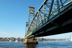Puente de New Hampshire de Portsmouth Imagenes de archivo