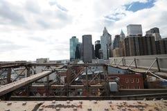 Puente de New York City Brooklyn Fotos de archivo