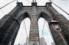 Puente de New York City Brooklyn Imágenes de archivo libres de regalías