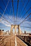 Puente de New York City Brooklyn fotografía de archivo