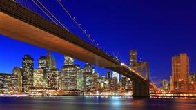 Puente de New York City Brooklyn Foto de archivo